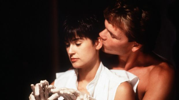 Demi Moore and Patrick Swayze in 1990's <i>Ghost</i> the film.