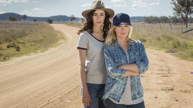 Geraldine Hakewill and Rebecca Gibney are on the run in Wanted.