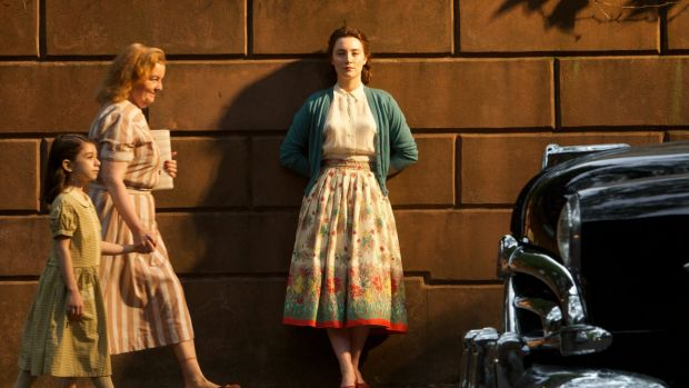 Saoirse Ronan (centre) plays the smart and dedicated Eilis in <i>Brooklyn</i>.