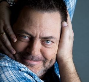 Comedian Nick Offerman  comes across as a mid-western lumberjack who somehow ended up in Hollywood.