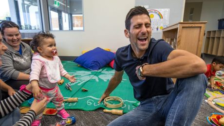 The Novak Djokovic Foundation has donated $20,000 to the Melbourne City Mission early childhood program. Djokovic ...