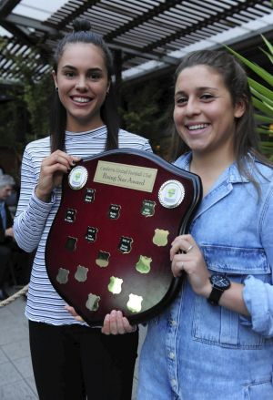 Emma Checker, left, and Julia De Angelis were joint winners of the rising star award.