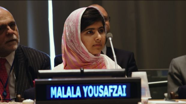 Malala Yousafzai at the United Nations General Assembly in New York City in 2013.
