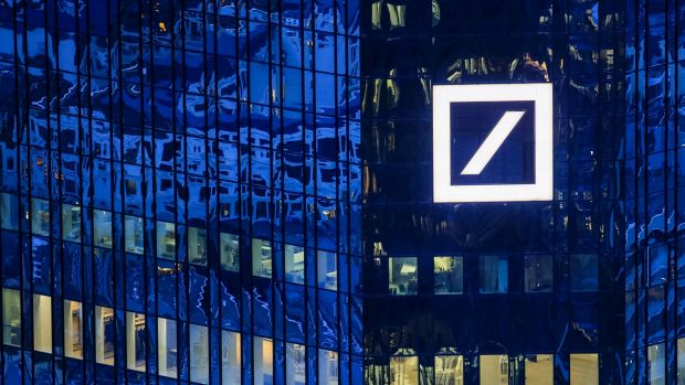 Deutsche Bank's share price plunged 10 per cent on Monday to its lowest level since 1984.