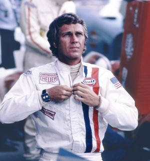 Steve McQueen packs some TAG Heuer bling in the 1971 film, Le Mans.