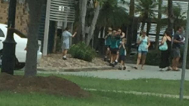 A parent at Buddina State School found out about the school's evacuation through social media.