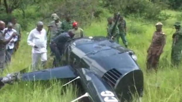In an image taken from local television footage, Jumanne Maghembe, Tanzania's Minister for Tourism and Natural ...