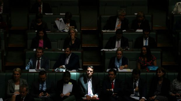 Shadow immigration minister Richard Marles takes his seat for question time on Tuesday.