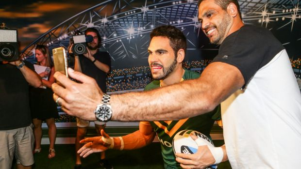 Picture this: South Sydney captain Greg Inglis' wax figure was unveiled at Madame Tussauds in Sydney on Tuesday.