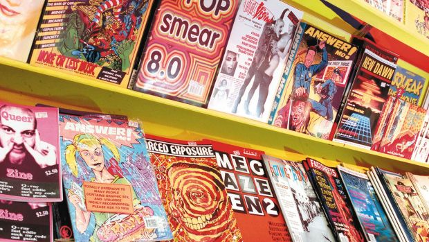 Polyester's shelves have held everything from comics and fanzines, to self-published rants and conspiracies, porn and gore.