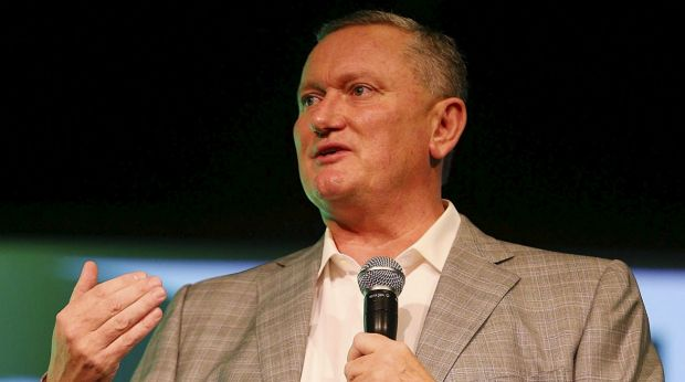 Stephen Dank at a sportsman's lunch two years ago.