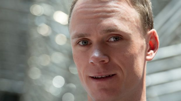 Riding hard: Chris Froome.