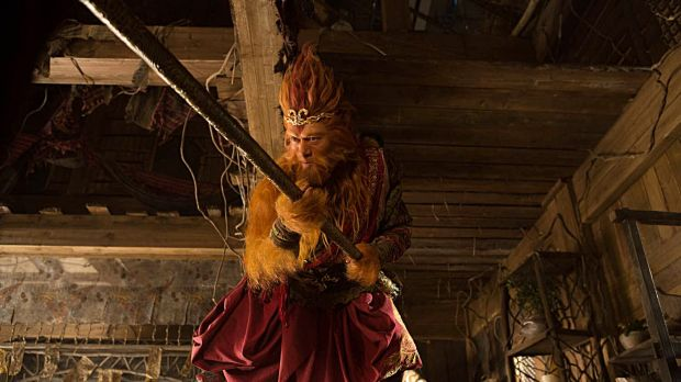 Aaron Kwok as Sun Wukong, the impulsive, buffoonish Monkey King.