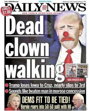 Donald Trump on the cover of the <i>New York Daily News</i>.