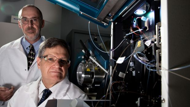 Professors Phil Robinson and Roger Reddel will use mass spectrometers (pictured) to conduct the ProCan project at the ...