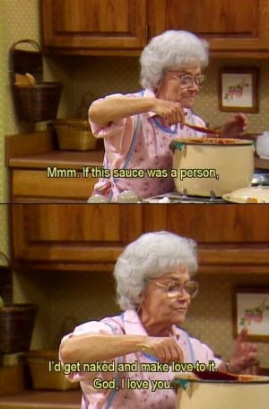 Sophia Petrillo gets saucy in The Golden Girls.