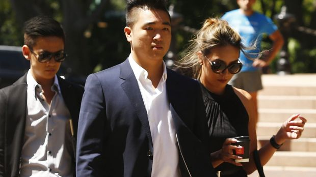 Justin Gao, cousin of Jamie Gao, arrives at the Supreme Court on Wednesday to give evidence.