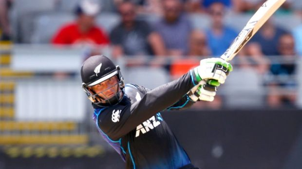 Big hitter: Martin Guptill goes long in Auckland.