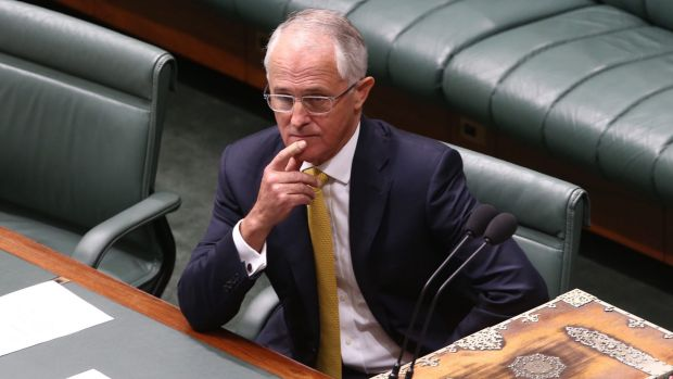 Prime Minister Malcolm Turnbull during the GST debate in Parliament last week.