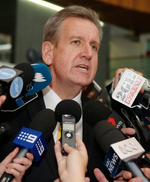 """""""Unsolicited proposals"""" process: former premier Barry O'Farrell."""