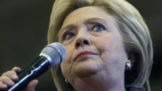 Democratic presidential candidate Hillary Clinton speaks at a campaign event in New Hampshire on Tuesday.