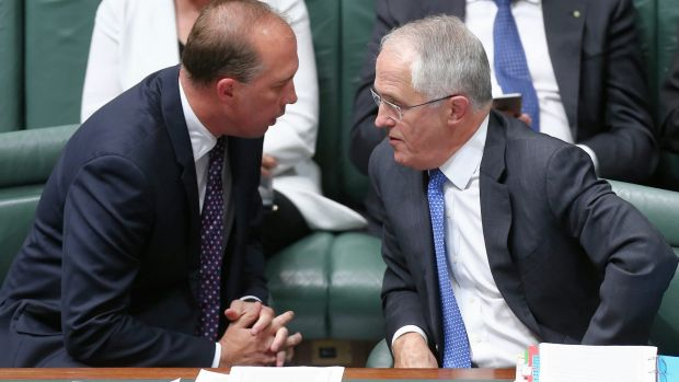 Immigration Minister Peter Dutton and Prime Minister Malcolm Turnbull.