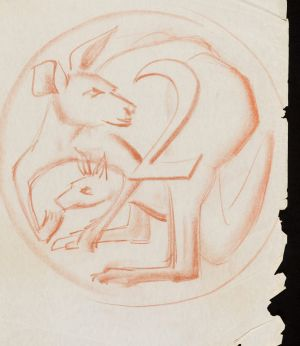 Stuart Devlin's early sketches of the two cent coin show how he was struggling to incorporate the kangaroo's tail into ...