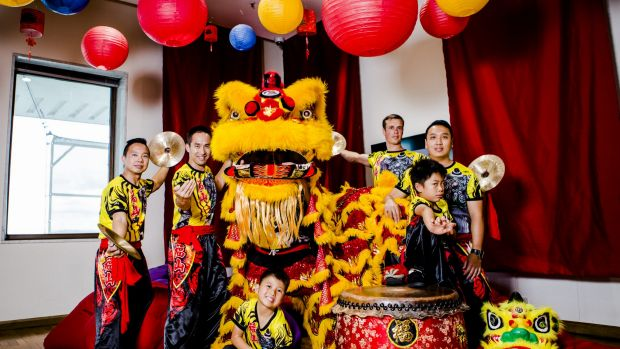 The Canberra Prosperous Mountain Lion Dance group get ready for the Chinese New Year celebrations.   The Canberra ...