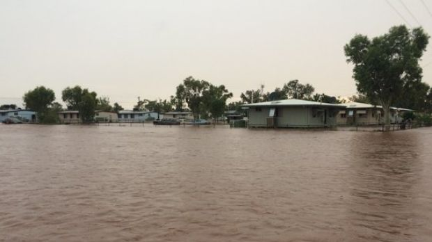 Flooding in Dajarra, about 150 kilometres east of Urandangi, where eight people are missing.