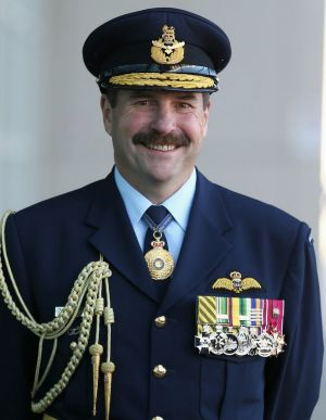 Chief of Air Force, Air Marshal Leo Davies.