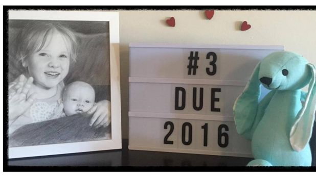 Parents Greg and Catherine Hughes announced they were expecting in April.