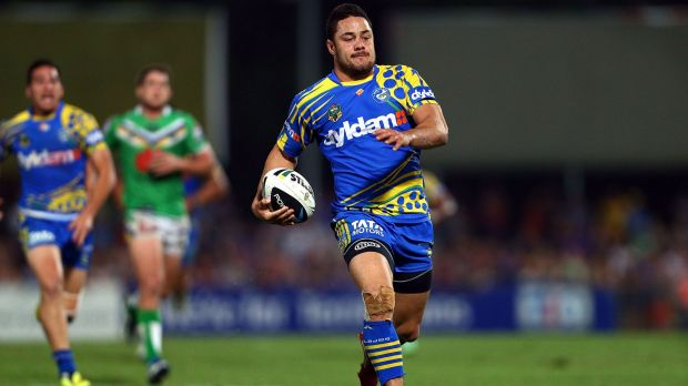Rugby league comeback?: Jarryd Hayne during his Eels days.