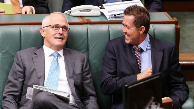 Prime Minister Malcolm Turnbull and Vocational, Education and Training Minister Luke Hartsuyker.