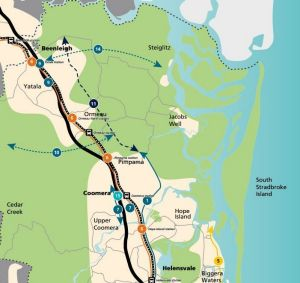 The Pacific Motorway eastern alternative shown as number 11 in the Gold Coast Transport strategy.