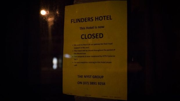 Once popular hotels have closed down.