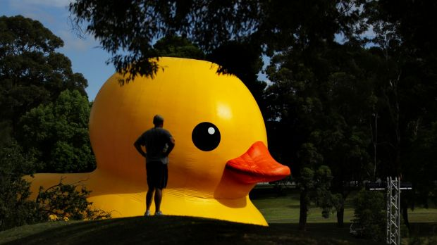 Florentijn Hofman's giant Rubber Duck was a feature of the 2013 and 2014 Sydney Festivals.