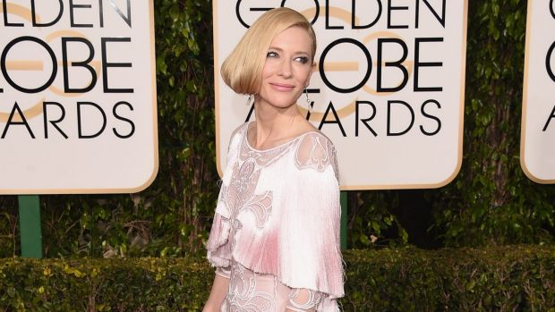 The faux bob, as adopted by Cate Blanchett at the Golden Globes last month, is a great way to show off a beautiful neckline.