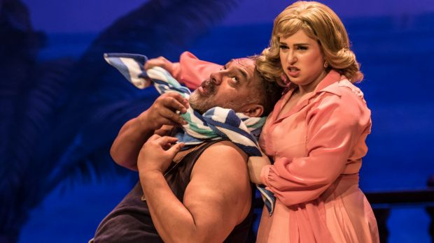 Carry on: Osmin (Eddie Muliaumaseali'i) and Blonde (Hannah Dahlenburg) in Melbourne Opera's The Abduction from the Seraglio.