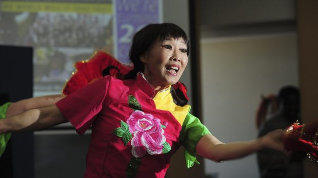 Wei Chen, of Watson, one of the dancers at the launch of the National Multicultural Festival.