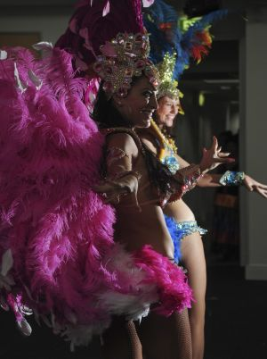 Kokoloco Dance Sudio performers  Becky Fleming, left, and Millie Sutherland Saines, at the launch of the 2016 National ...