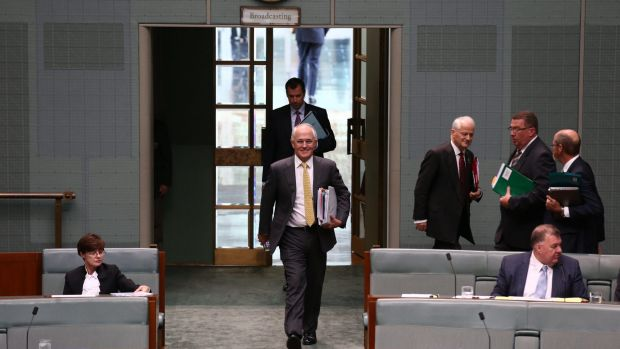 Prime Minister Malcolm Turnbull arrives for question time on Thursday.