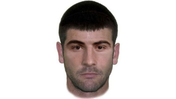 A facefit image of a man suspected of being  involved in the death of Canberra man Andrew Carville.
