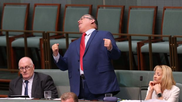 Ewen Jones fails to get the call during question time on Thursday.