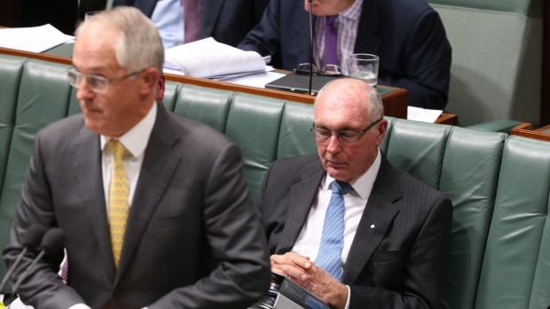 Prime Minister Malcolm Turnbull and Deputy Prime Minister Warren Truss during question time on Thursday.