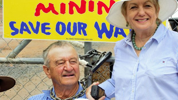 Santos's Narrabri coal seam gas project has been the subject of ongoing protests.