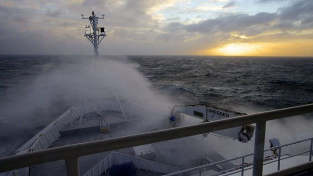 A stormy patch for the CSIRO: On board RV Investigator.