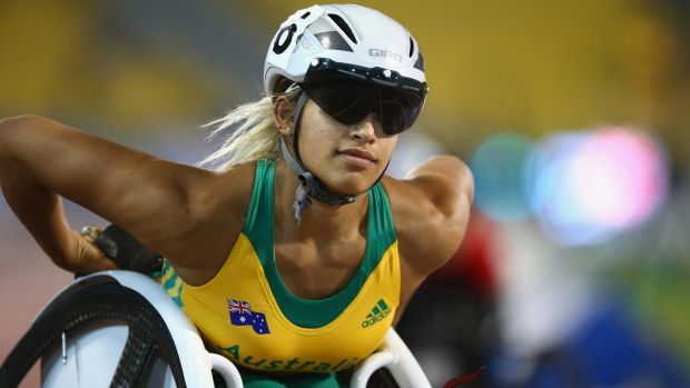 Chasing gold: World champion Madison de Rozario has high hopes for the Paralympics at Rio de Janeiro.