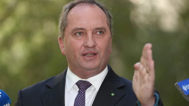 Two wrongs don't make a right, Deputy Prime Minister Barnaby Joyce says.