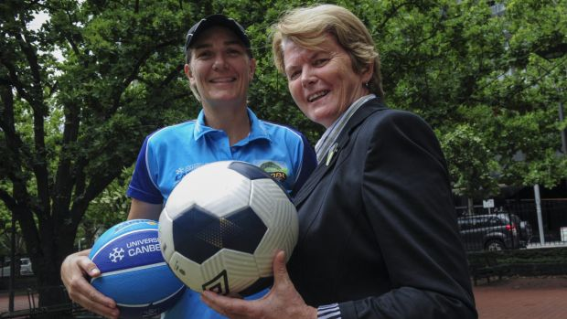 Capitals coach Carrie Graf, left, and Capital Football chief executive Heather Reid have left an amazing legacy in their ...