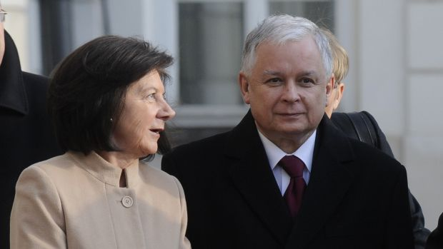 Killed in plane crash in Russia in 2010 ... A file photo of Polish president Lech Kaczynski and wife Maria.